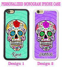 PERSONALIZED MINT PURPLE MAYAN FLORAL Skull CASE COVER For iPhone 6S 6S+ 6 5S 5C