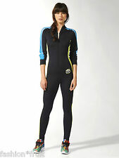 Adidas Originals Rita Ora All-in-One Suit Jumpsuit Black Neon Tracksuit XS S M L
