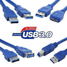 Superspeed USB 3.0 Extension Cable Type A/A A/B A/F A/Note3 Cord Line Wire Lot