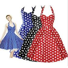 New Hepburn Polka Dot Tutu Ball Gown Cocktail Party Evening Prom Dress S-XL SP2G