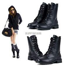 Hot Women's Cool Style Boots Platform Wedge Punk Lace Up Short Gothic Boots