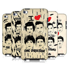 OFFICIAL 1D DOODLE GRUNGE HARD BACK CASE FOR APPLE iPOD TOUCH 4G 4TH GEN