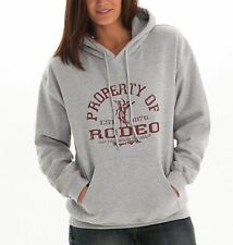 Cowgirl Tuff S00573 Women's Gray Cotton Blend Hooded Pullover Sweatshirt