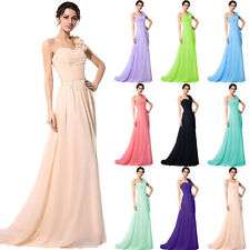 One Shoulder Formal Bridesmaid Long Dress Plus Size Evening Cocktail Party Gown