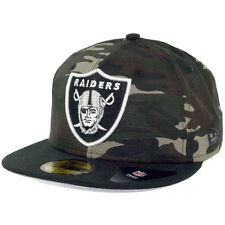New Era Rip Right Oakland Raiders Hat (Camo/Black) Men's 59Fifty Fitted Cap