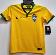 BNWT BRAZIL HOME WORLD CUP YOUTH KIDS BOYS FOOTBALL SOCCER JERSEY 2014