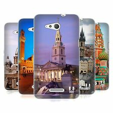 HEAD CASE FAMOUS CITY SQUARES SOFT GEL CASE FOR SONY XPERIA E4G