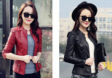 2015 Women new fashion women leather jacket leather motorcycle jacket coat Slim