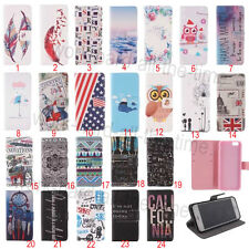 Flip Wallet PU Leather Stand Case Cover For iPhone 4/4S/5/5S/5C/6/Plus/Samsung
