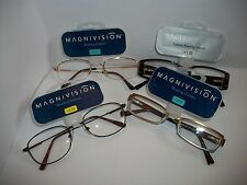 NWT  Lot of 4 Magnavision or Foster Grant Reading Glasses Mixed Styles
