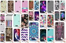 New ZTE Max N9520 Silicone Skin Rubber TPU Cover Phone Case + Cute Crystal Pen