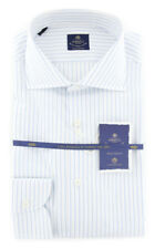 New $600 Luigi Borrelli Light Blue Shirt - (EV06108170ACHILLE)