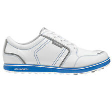 NEW MEN'S ASHWORTH CARDIFF ADC GOLF SHOES WHITE/BLUE G54282 - PICK YOUR SIZE