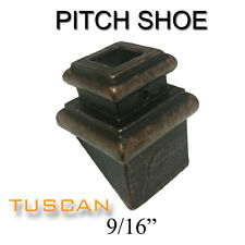 """Pitch Shoe for 9/16"""" Square Tuscan, Hammered & Gothic Balusters"""