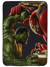 Marvel Comics The Avengers Hulk Vs Iron Man Fleece Blanket 115x152cm
