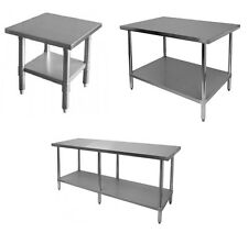 New Commercial Stainless Steel Kitchen Work Prep Table NSF Approved (All Sizes)