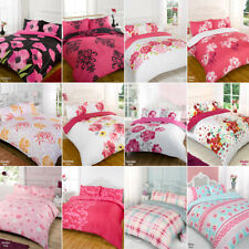Duvet Quilt Cover Bedding Set Pink Single Double King Kingsize Super King