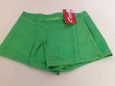 Capezio Women's Boy Cut Booty Shorts Dance Cheer Shimmery Lime Green XS S New