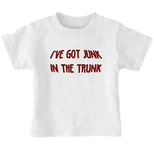 Funny I've Got Junk In The Trunk Cotton Toddler Baby Kid T-shirt Tee 6mo Thru 7
