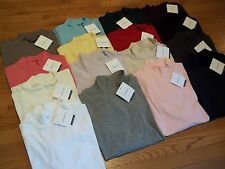 NWT Womens Croft & Barrow Cotton Blend Mock Turtleneck Mock Neck Shirt / Top