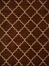 Trellis Area Rugs Red Black Brown Rust Blue 2x7 4x6 5x7 8x10 Contemporary Rug