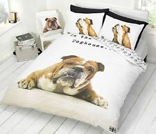 Barry Bulldog Dog Photoreal Single Double Queen King Bed Quilt Duvet Cover Set
