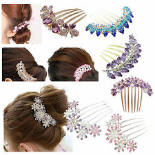 New Lovely Fashion Leaves  Crystal Hair Clip Hairpin