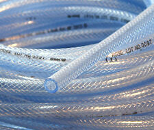 3Ft of High Pressure Braided PVC Water Line Tubing Clear Hose Braid Reinforced