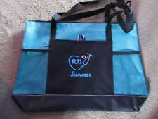 Personalized Nurse RN BSN LPN Hospital Tote Duffle Bag with side Pockets