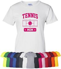 "Personalized ""Tennis Mom"" Ladies Tee or T-Shirt Sz S-4XL custom sports mother"