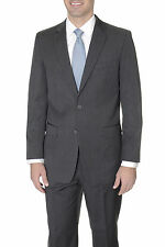 Renoir Regular Fit Charcoal Gray Pinstriped Two Button Suit