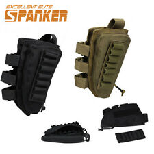 1000D Tactical Rifle Buttstock Shell Ammo Tactical Pouch Bag With Cheek Pad