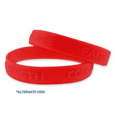 Red Hope Faith Courage Strength Awareness Rubber Bracelet