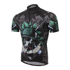 New Skeleton Soldier Cycling Clothing Bike Bicycle jersey short sleeve Shirt Top
