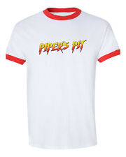 NEW Rowdy Roddy Piper Pit Hot Rod vintage red  ringer T-shirt Tee