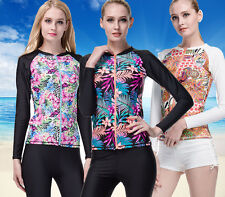 New Woman Rash Guard Women's Long Sleeve Swim Shirt Surf Swimwear SPF Sun Top