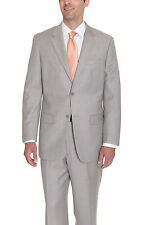 Alfani Classic Fit Light Tan Stepweave Two Button Wool Suit