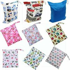 New Stylish Antiwater Zipper Wet Dry Diaper Bag for Baby Carriage