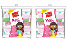 18  Pack Hanes Girls No Ride Up Cotton Assorted Colored Panties Briefs Best Sell
