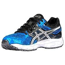 ASICS® GEL-Contend 3 - Boys' Primary Sch. Running Shoes (Electric BL/WT/BK)