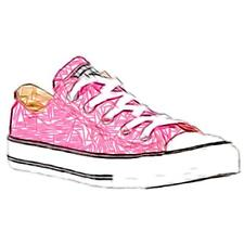 Converse All Star Ox - Girls' Preschool Basketball Shoes (Pink)