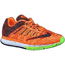 Nike Zoom Elite 8 - Men's Running Shoes (Total OR/Ghost GN/Voltage GN/BK Width:
