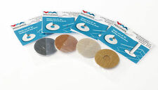Self Adhesive Pack of 4 Pipe Covers/Rad Rings- For Laminate. Choose Colour