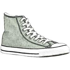 Converse All Star Hi - Men's Basketball Shoes (Charcoal/White Width:Medium)
