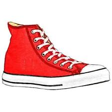 Converse All Star Hi - Men's Basketball Shoes (Bright Red/White Width:Medium)
