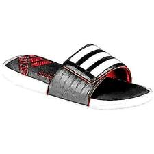 adidas Adissage Comfort FitFoam Slide - Men's Casual Shoes (WT/BK/Vivid RD Widt