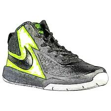Nike Team Hustle D 7 - Boys' Primary Sch. Basketball Shoes (BK/Volt/WT/BK)