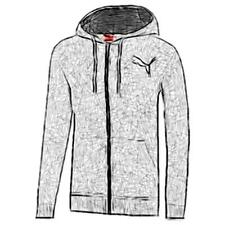 PUMA Full Zip Hooded Casual Jacket - Men's (Medium Gray Heather)