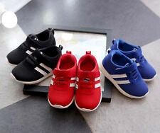 NEW Baby Kids Mesh Canvas Sports Shoes Boy Sneakers Lace Up Toddlers Girl Casual