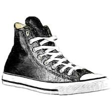 Converse All Star Leather Hi - Men's Basketball Shoes (Black Width:Medium)